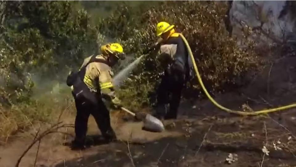 Firefighter Hurt Battling San Diego CA Brush Fire