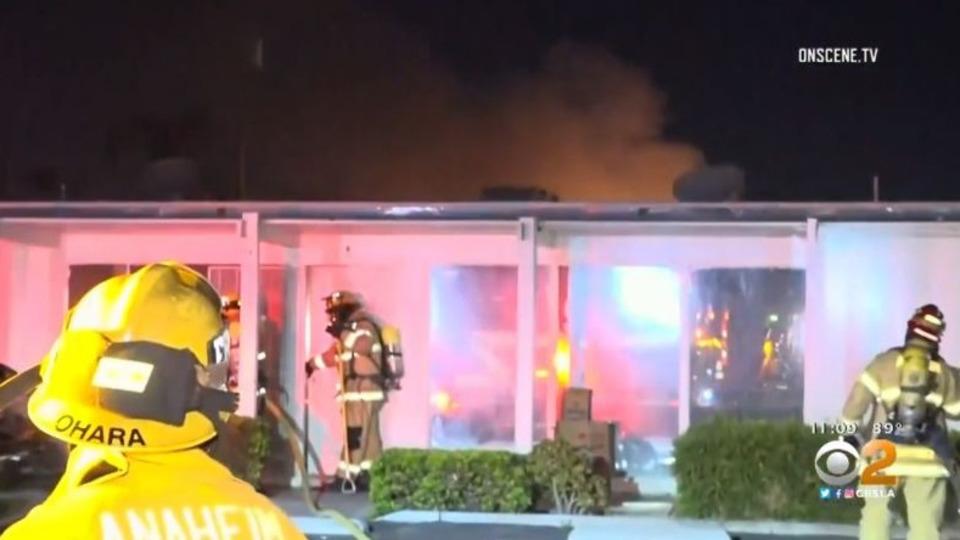 Anaheim CA Strip Mall Explosion Fire Drug Lab Suspect