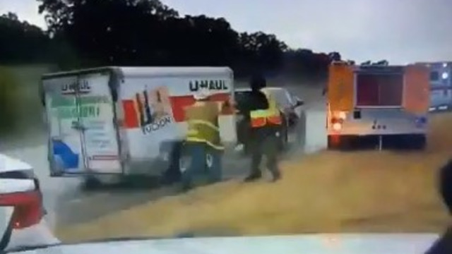 Video Captures Out-of-Control Trailer Hits Stringtown OK