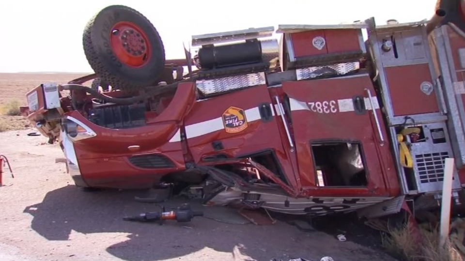 CAL FIRE Firefighters Injured in Apparatus Rollover Crash