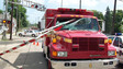 Malfunctioning Railroad Crossing Gate Hits Ohio EMS Unit, Injures Firefighter