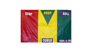 Item #FP7233-Stop, Drop & Roll Safety Mat