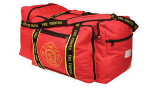 Large Red Firefighter Wheeled Bag