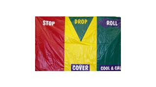 Item #FP7233-Stop, Drop & Roll Safety Mat