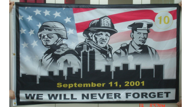 911 10th Anniversary Patches