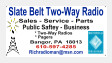 SLATE BELT TWO-WAY RADIO