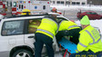 Driver Extricated by Rush, N.Y. Crew
