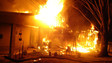 Louisiana Firefighters Battle Structure Fire
