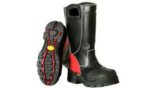 FDXL-100 Red Leather Fire Boot