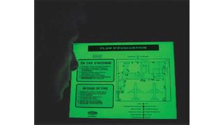 Building Evacuation Plaques