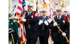 Honor Flag Flies Over Fallen Firefighters Memorial
