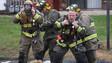 Conn. Firefighters Battle Apartment Blaze
