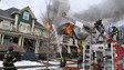 House Damaged by Fire in Rochester, N.Y.