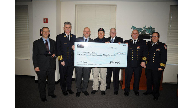 FDNY Foundation Receives Donation from 5.11 Tactical Clothing Company