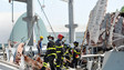 Italian Firefighters Save Woman Following Earthquake