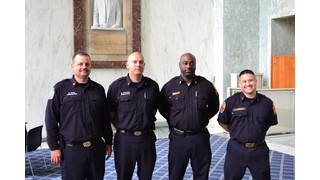 Globe Honors Injured DC Firefighters