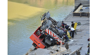 Crane Flips Over & Pins Operator Under Crushed Cab