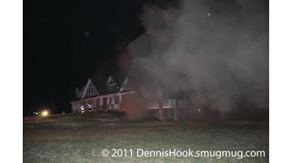 Firefighters Burned In Mega-Mansion Fire