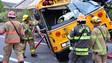 Oregon Crews Extricate School Bus Driver After Crash
