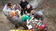 Texas Firefighters Rescue Man Fallen Off Cliff