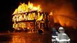 Maine Firefighters Battle Fireworks Warehouse Blaze