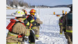 N.Y. Firefighters Conduct Ice Rescue Training