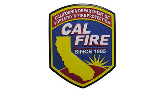 California Fire Emblem Patch Solid Mahogany Wooden Plaque