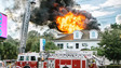 Photo Story: Flames Shoot from Roof of N.C. Building