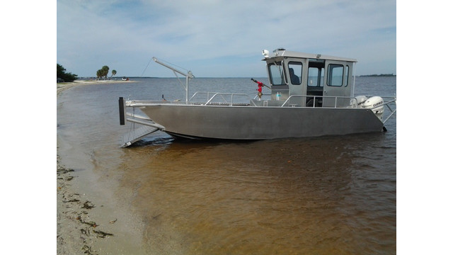 Stanley Boats 24' Landing Craft, on beach