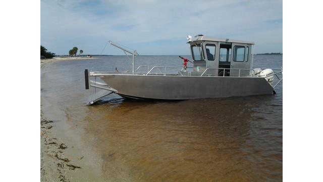 Stanley Boats 24' Landing Craft, on beach