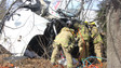 Photo Story Md. Crews Rescue Driver from Truck Rollover