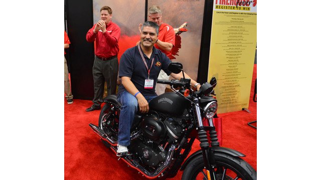 Calif. Firefighter Wins Harley at Firehouse World