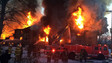 People Jump to Escape Blazing Apartments in Detroit