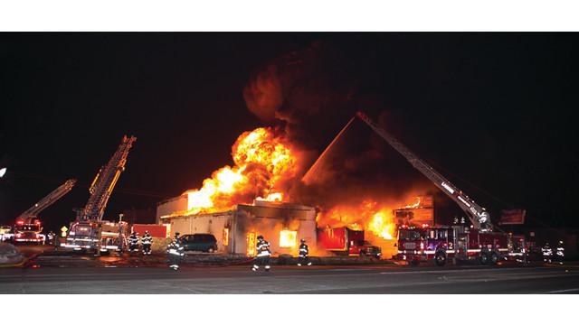 On The Job Illinois: Four-Alarm Fire Destroys Northlake Tire Shop