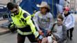 Arredondo Returns to Hand out Flags at Boston Marathon