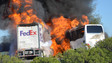 Fiery Bus Crash on Calif. Highway Kills 10