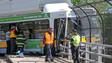 Bus Hangs Over Massachusetts Pike After Crash