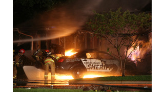 Minn. Police Car Hits Gas Line, Ignites Building Fire