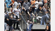 Calif. FF Catches Home Run Ball While Holding Son