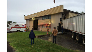 Tractor-trailer Crashes into Oregon Fire Station