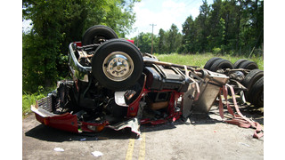 Overturned Fire Truck Traps Firefighter in Tennessee