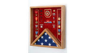 Flag & Awards Combination Shadow Box