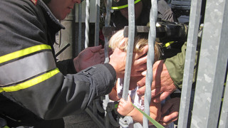 Photo Story: Girl's Head Trapped by Fence in Austria
