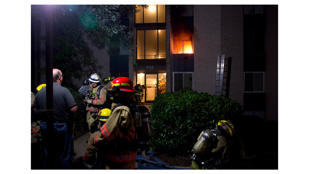 Montgomery County Firefighters Battle Rockville Apartment Fire