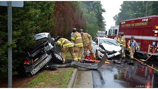 Photo Story: Two Pinned at N.C. Crash