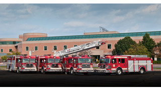 Smeal Delivers Five Apparatus to Ontario Canada