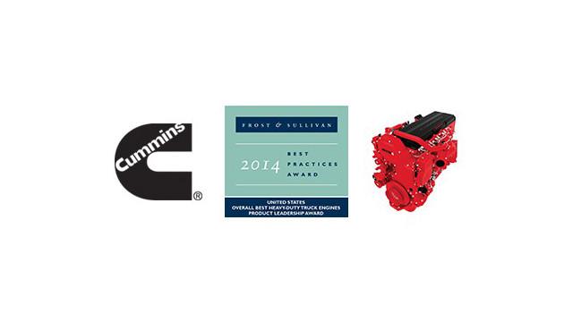 Cummins Earns Engine Industry Leadership Award